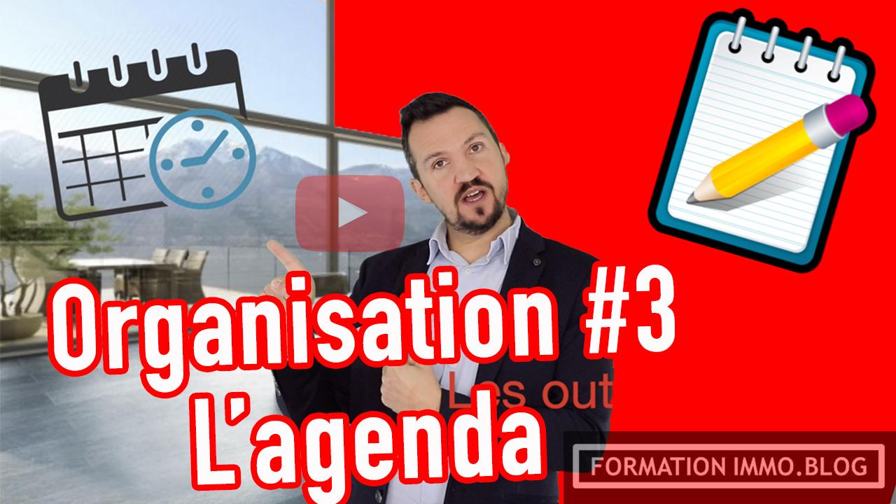 Organisation de travail #3 l'agenda